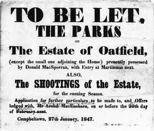 1847 Letting Notice