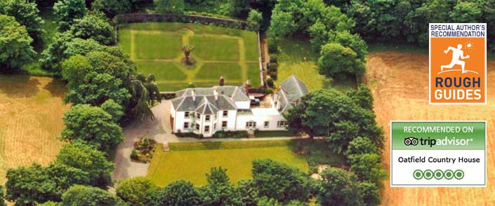 Aerial photo of Oatfield House, Mull of Kintyre